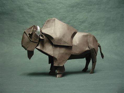 origami bison this week in origami japanese white eye edition