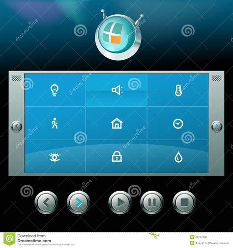 vector interface and icons stock vector image of
