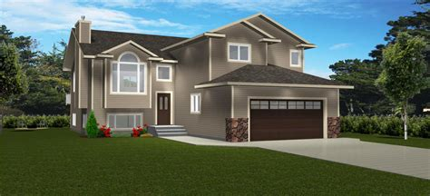 bi level house plans with attached garage brilliant one bedroom house floor plans home