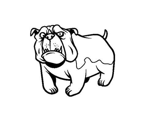 dibujos de perros para colorear dibujosnet dibujo de perro bulldog ingl 233 s para colorear dibujos net