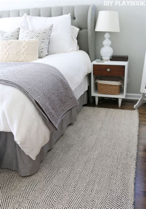 small rugs for bedroom how to pick a neutral bedroom rug tutorial master