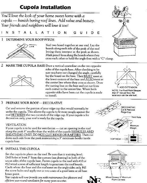 Cupola Design Plans Free Cupola Installation 187 Pole Barns