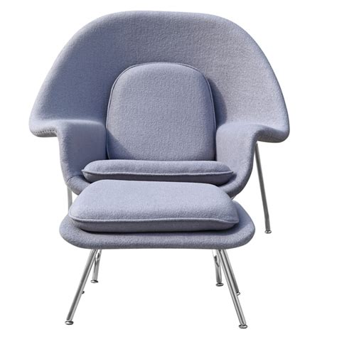 Grey Chair And Ottoman Woom Chair And Ottoman Light Grey Accent Chairs Fmi1134 Lg 2