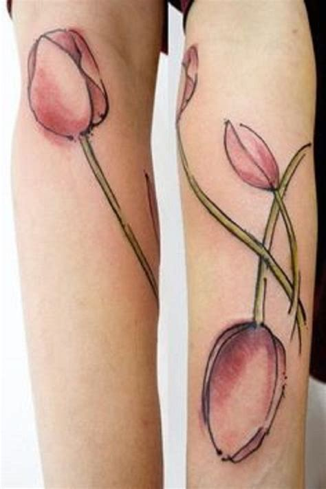 red tulip tattoo designs collection of 25 realistic tulip on forearm