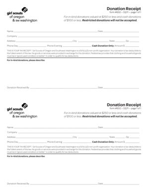 scout receipt template donation receipt template doc forms fillable printable