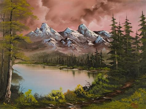 bob ross painting forest mountain forest painting t 236 m với inspiration