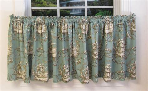 toile kitchen curtains toile kitchen curtains cottage diy project powder room