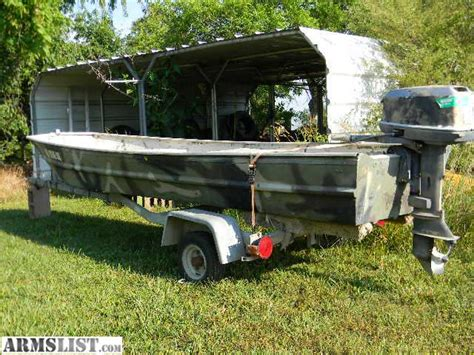 14 ft flat bottom boat for sale armslist for sale trade 14 ft flatbottom boat w 18hp