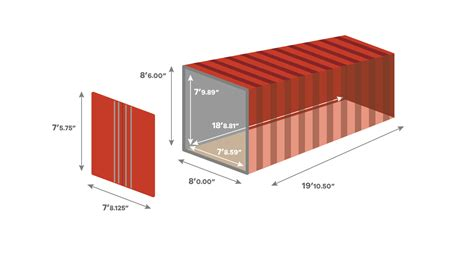 shipping container dimensions and specifications