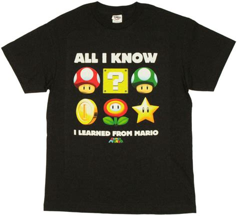 T Shirt Mario Bros World mario learned t shirt