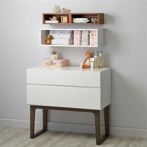 Narrow Changing Table Narrow Wall Shelving From The Land Of Nod Nursery Pinterest Wall Shelving Nursery And