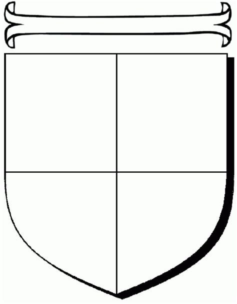 coat of arms printable template blank family crest template cliparts co