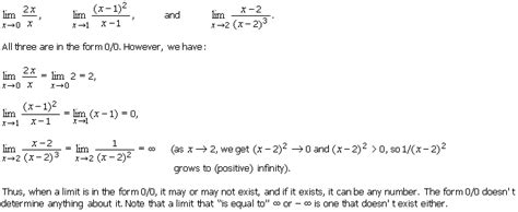 how to find a limit as x approaches infinity 1 1 3 the indeterminate form of type 0 0