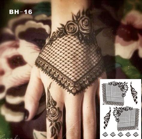 aliexpress com buy bh 16 gothic style black lace henna