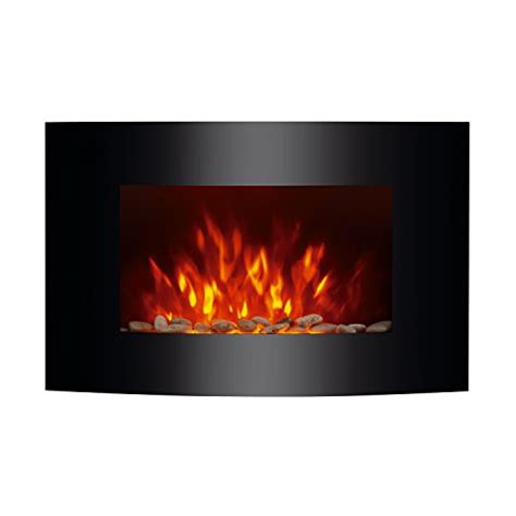 smokeless fireplace logs homcom 36 quot 1500w wall mounted electric fireplace w remote import it all