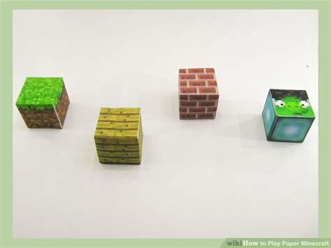 How To Make A Paper Minecraft Person - how to play paper minecraft 6 steps with pictures wikihow