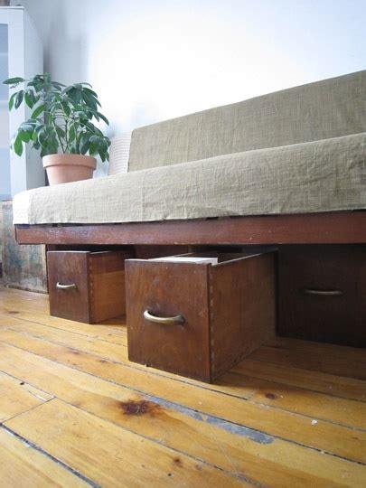 under couch storage ideas under sofa storage repurposed drawers craft ideas