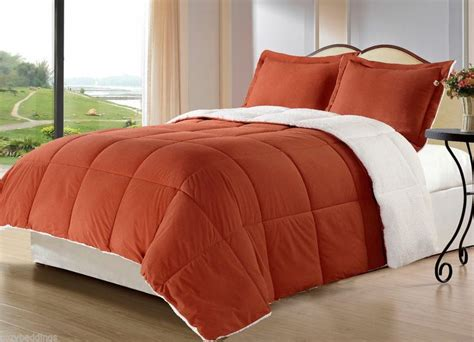 orange queen comforter set burnt orange borrego blanket down alternative comforter