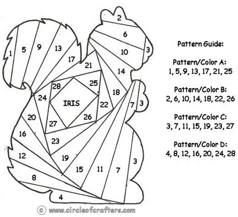 free printable iris folding patterns crafts templates
