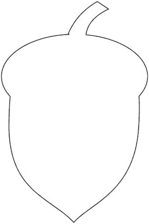 acorn template acorn pattern printable free crafts free