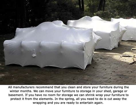 how to shrink wrap a couch outdoor kitchen protection outdoor furniture protection