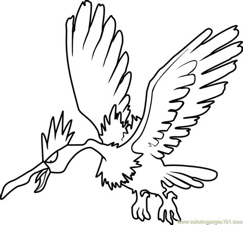 how to color a fearow coloring page free pok 233 mon coloring pages
