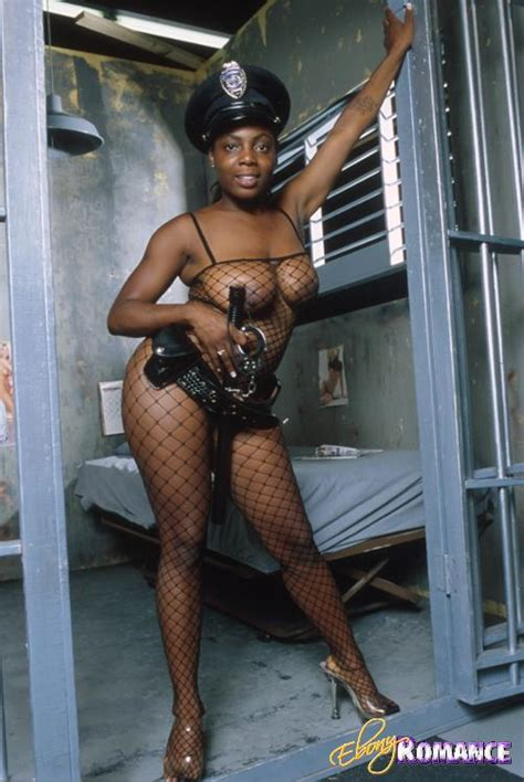 naughty ebony police officer teases us with her big booty