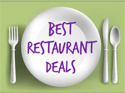 restaurant deals current retail and restaurant coupons mission to save