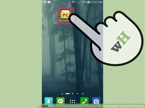 create folder android how to create and delete a folder in file commander for android phones