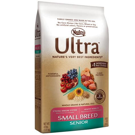 nutro food nutro ultra small breed senior food 4 lb
