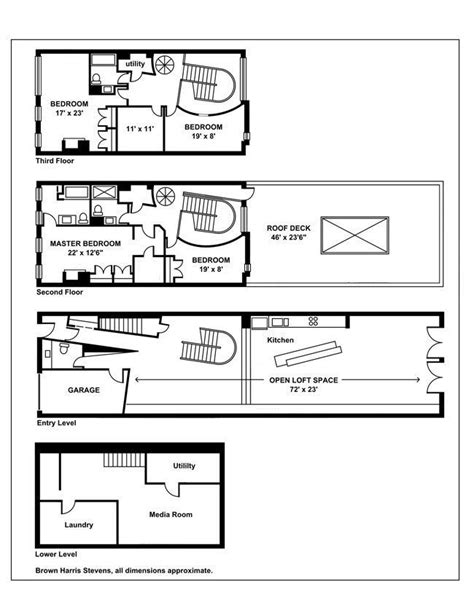 townhouse floor plans floor plans pinterest 25 best plany images on pinterest townhouse floor plans