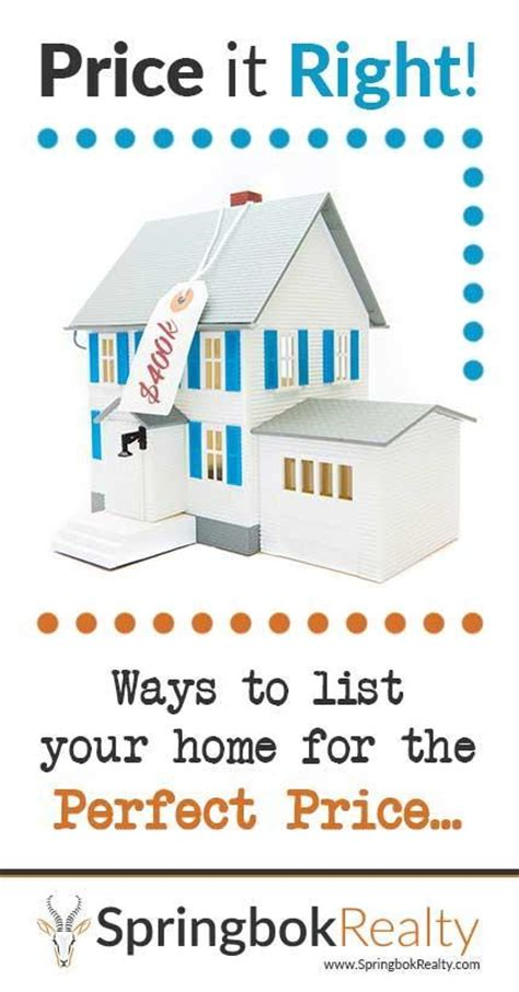 setting the right listing price for your home