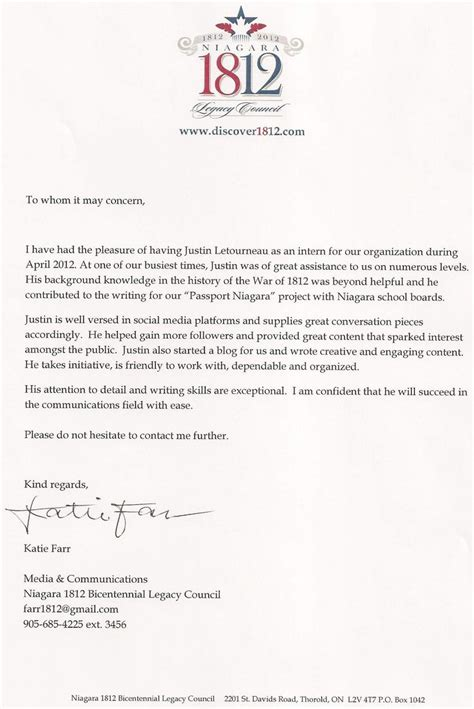 Business Letter In Reference To justin letourneau reference letters letter of reference