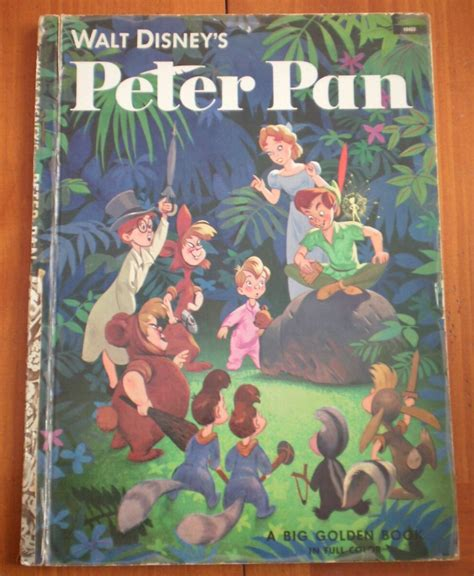 value of walt disney golden books pan walt disney big golden book 10453 hardcover golden press vintage