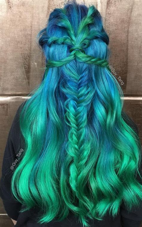 Mermaid Hairstyles by Green Hair Color Ideas For 2017 2017 Haircuts