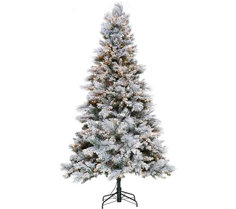 wwwqvccomprelit christmas trees hallmark 7 5 snowdrift spruce tree with set technology page 1 qvc
