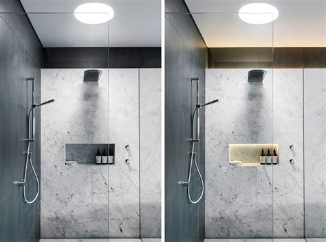 understated elegant monochromatic bathroom