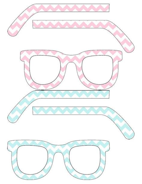 How To Make Paper Glasses For - chevron glasses by popenterprises paper crafts pattern