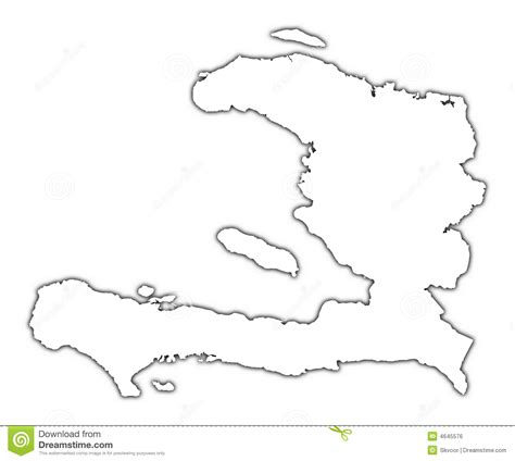 haiti outline map royalty free stock image image 4645576