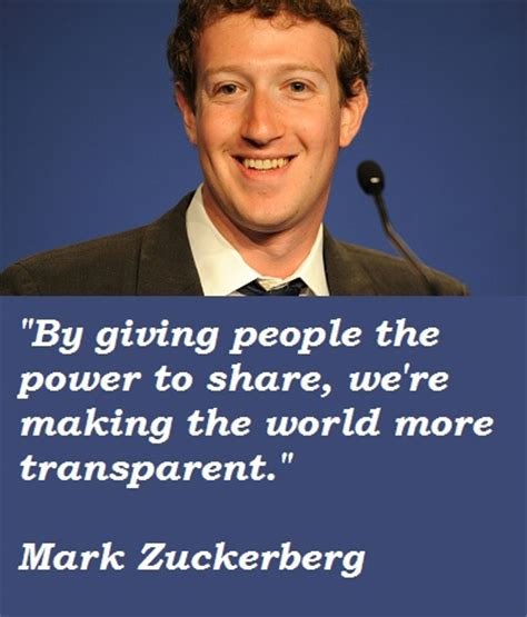 Mark Zuckerberg Quotes. QuotesGram