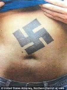 nazi tattoo numbers white supremacist covered in nazi tattoos is sentenced to
