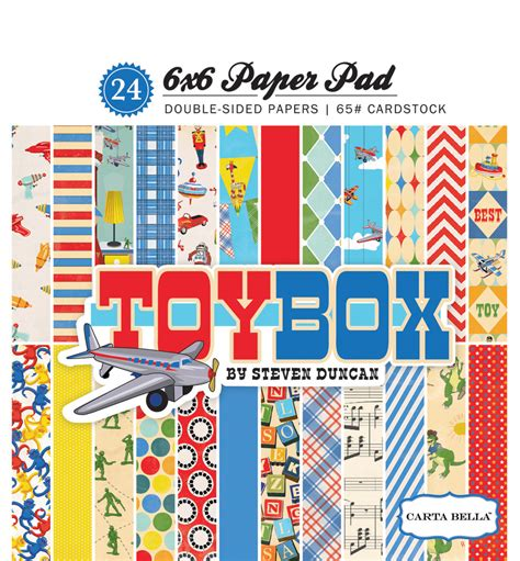 Funtivity Pad Cover Toybox 1 collections echo park paper co box