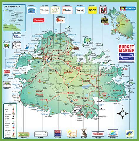 antigua and barbuda map detailed travel map of antigua and barbuda