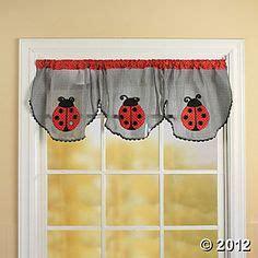 Ladybug Kitchen Curtains Ladybug Meadow Tier Window Treatment Window Treatments Window And White P