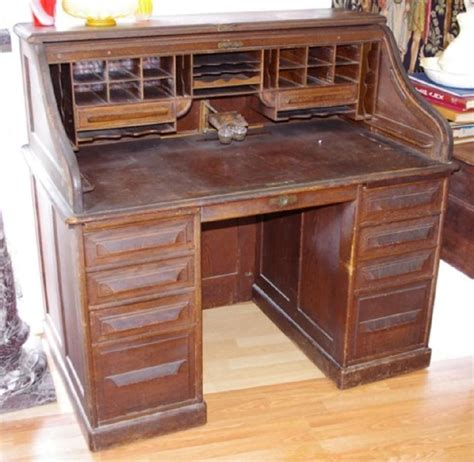 vintage roll top desk value vintage cutler oak roll top desk desks furniture
