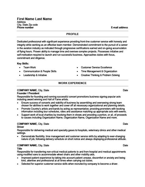 Former Resume Objective by Founder Resume Resume Ideas