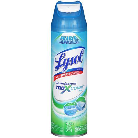 lysol maxcover mist garden   rain scent disinfectant spray  oz aerosol