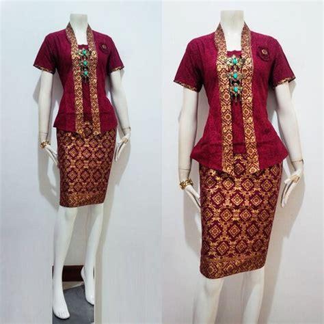 Kebaya Premium Mano H jual baju batik kebaya wanita modern model yahlan seragam