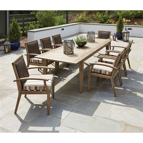 lloyd outdoor furniture lloyd flanders wildwood outdoor wicker and teak dining set