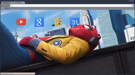 theme google chrome spiderman spiderman homecoming hd wallpaper chrome theme themebeta